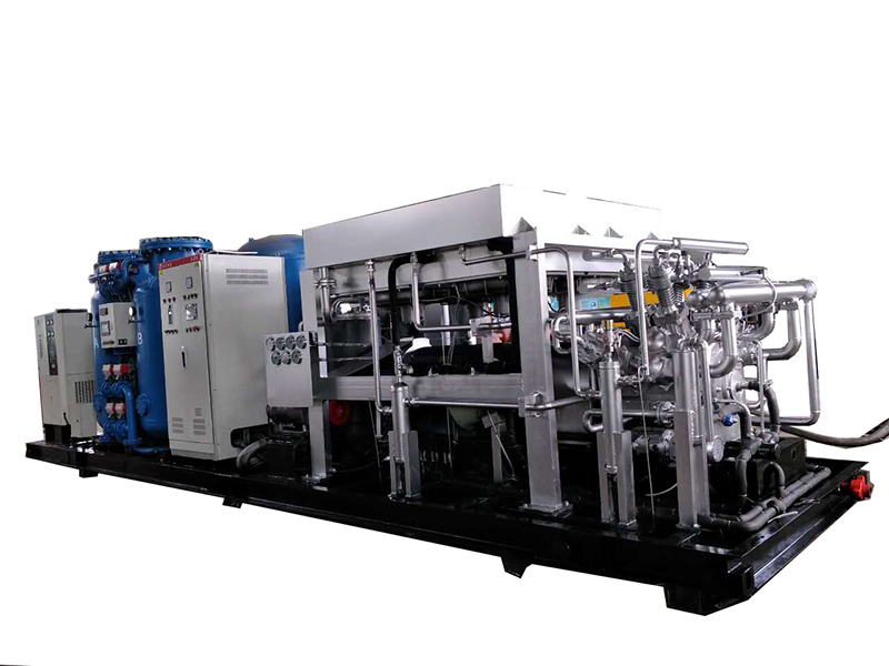 Skid mounted nitrogen compressor
